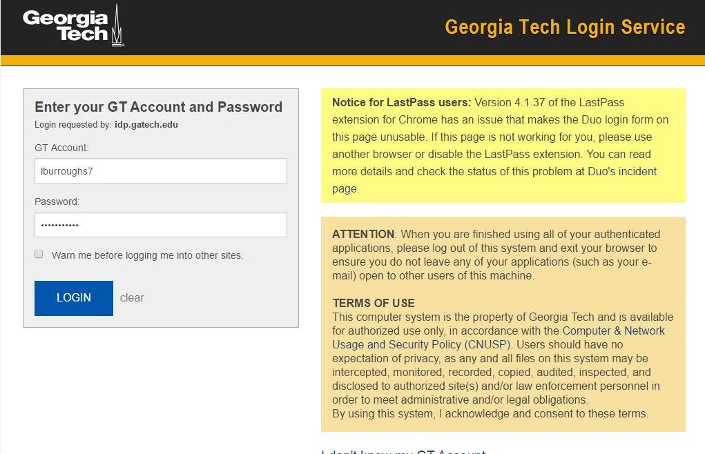 What's New | Two factor Authentication | Georgia Institute of